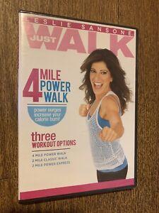 LESLIE SANSONE: JUST WALK - 4 MILE POWER WALK NEW SEALED DVD