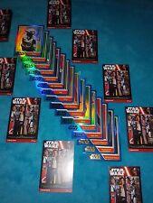Star Wars Trading Cards  3 Glitzerkarten aus 4 versch.  Serien ..nagelneu..