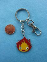 Studio Ghibli Howl's Moving Castle Calcifer Keyring Bag Charm Birthday Gift  #14