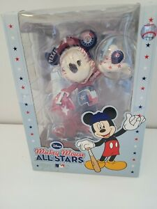 NEW! Disney's Mickey Mouse 2010 MLB All Star Texas Rangers Figurine