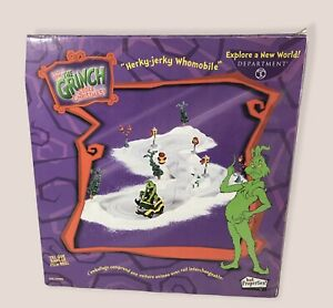 """Department 56 How The Grinch Stole Christmas """"Herky-Jerky Whomobile"""" NIB!"""