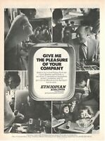 1973 Original Advertising' Vintage Ethiopian Airlines Give Me The Pleasure Of Yo