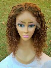 """18"""" #33 Custom Auburn 7A Brazilian Kinky Curly 150% Density Lace Front Wig"""