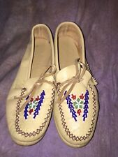 SFF Vintage Beaded Native American Leather Shoes Size 6????