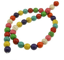 48 Multi Color Gemstone Beads 8mm - 1 Strand - Bd471