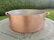 MAGNIFIQUE ancien rondeau en cuivre GAILLARD / 15,4kg / 50cm