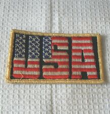 USA FLAG  SPEEDWAY SEW ON  BADGE USED