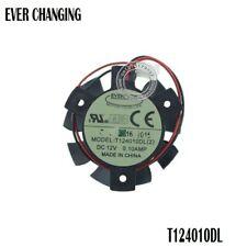 37MM T124010DL 2Pin 0.1A Cooler Fan For ASUS gt640 GT 640 HD 4550 HD5570 Cooling