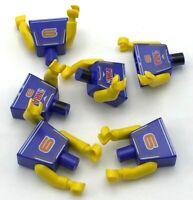 LEGO LOT OF 6 BASKETBALL NBA MINIFIGURE TORSOS FIGURE PIECES PARTS