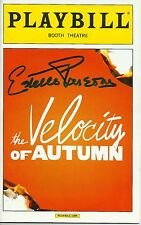Estelle Parsons signed The Velocity of Autumn Playbill