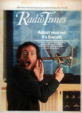RADIO TIMES 20 FEB 1982 . KENNY EVERETT COVER . CLIVE DUNN GRANDAD . DOCTOR WHO