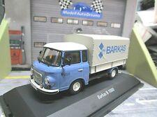 BARKAS Bus Van B1000 B1000 Pritsche Plane blau blue DDR Ostblock Schuco 1:43