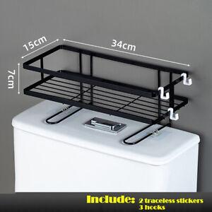 Bathroom Toilet Storage Shelf Holder Organizer Rack Space Saver Stainless Steel