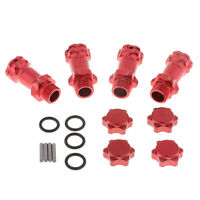 1/8 RC Buggy Car Spare Parts 17mm Wheel Hub 30mm Coupler Adapter for HSP Red