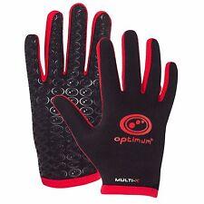 Optimum Sports Multi-X Full Finger Glove Lightweight Super Grip Palm-Black/Red