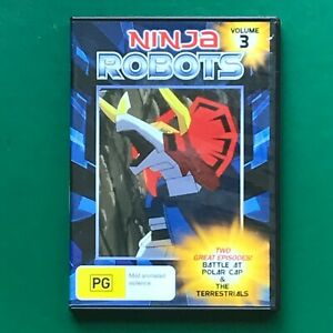 NINJA Robots Volume 3 DVD - Battle At Polar Cap/The Terrestials - As New Region
