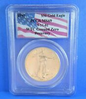 1997 PCGS MS69 $50 1 oz Gold American Eagle 911 WTC Recovery Certified PCGS
