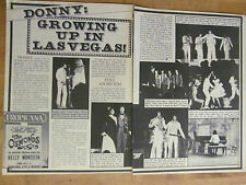 Osmonds, Donny Osmond, Two Page Vintage Clipping, Brothers, Jay