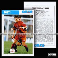 TOTTI FRANCESCO (ROMA) - Fiche Football / Calcio 1999