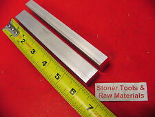 """2 Pieces 1/2"""" X 3/4"""" ALUMINUM 6061 FLAT BAR 6"""" long Solid Extruded Mill Stock"""