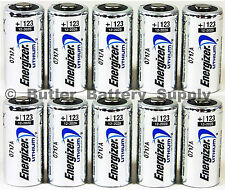 10 x CR123 Energizer 3V Lithium Batteries (CR123A, DL123, 123, EL123, CR17345)