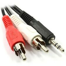 3.5mm Macho a Macho 2 Rca Para Audio Estéreo De Auriculares Jack y Splitter PC TV Cable