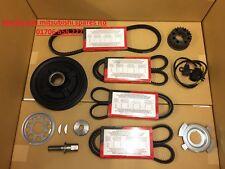 For Mitsubishi L200 2.5 TD 4D56 crank shaft pulley belts bolt kit 2001-2007