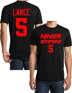 NINER EMPIRE Football Black T-shirt, Trey Lance , San Francisco, Jersey