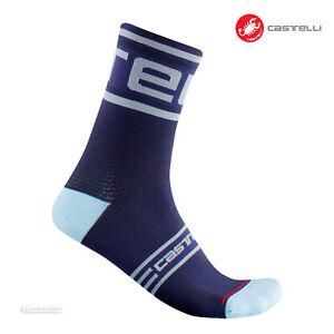 Castelli PROLOGO 15 Cycling Socks : SAVILE BLUE - One Pair