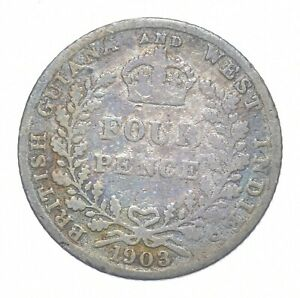 Better - 1903 British Guiana & West Indies 4 Pence - TC *929
