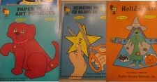 Lot of 3 Teacher Books for Decorations Holidays Reproducible Grades K-4