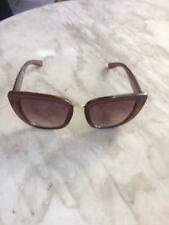 NWT $50 TAHARI Black Gold Cat Eye Thick Sunglasses Shades TH706