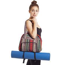 Vintage Tribal Stripe Gym Bag With Yoga Mat Harness-90431