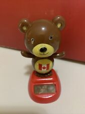 SOLAR POWER DANCER BEAR CANADA TOY TABLE DESK DECOR HOME DECOR