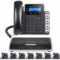 Business IP Phone System 8 Grandstream Starter Package Free Phone Service 1 Year