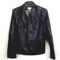 Kim Rogers Woman's Large Black Leather Jacket