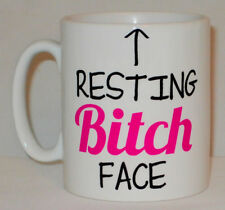 Resting Bitch Face Mug Funny Office Work Secret Santa Gift Cup Bestie