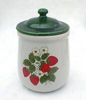McCoy Strawberry Country Small Kitchen Canister Jar 135 Excellent Tea Coffee