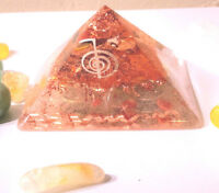 ORGONE PYRAMIDS - HAND MADE TO ORDER - CRYSTALS & COPPER 2.5X3.5in GIZA STYLE