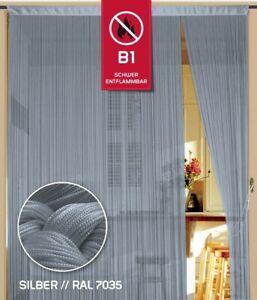 Fadenvorhang Kaikoon 150 cm x 700 cm silber in B1 schwer entflammbar