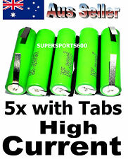 5 x TABBED Samsung 18650 INR-25R 2500mAh HIGH AMP rechargeable Lithium battery