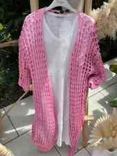 Lochstrickmantel in Pink One Size bis Gr.42 (N7)
