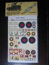 1/72  VINTAGE ESCI DECAL N°57 GB SHORT STIRLING / AMSTRONG WHIWORTH WHITLEY RAF