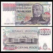 Argentina 100000 100,000 Pesos, ND(1979-1983), P-308, A-UNC
