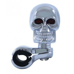 Chrome Skull Steering Wheel Spinner Suicide Brody Knob Hot Rat Rod Car/Truck/RV