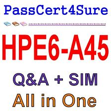 HP Implementing Aruba Campus Switching Solutions HPE6-A45 Exam Q&A+SIM