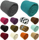 Large Fleece Throw Luxury Warm Soft Polar Blanket Sofa Bed Travel Throwover