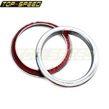 2Pc Plastic Driving Turn Signal Light Cover Ring Trim For Jeep JK Wrangler 07-17