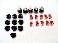 """15 Red Dash LEDs Lights Bulbs 1/2"""" Sockets Side Marker Instrument Panel  Mopar"""