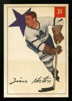 1954 1954-55 PARKHURST~#31~TIM HORTON~RAZOR SHARP CENTERED~TORONTO MAPLE LEAFS